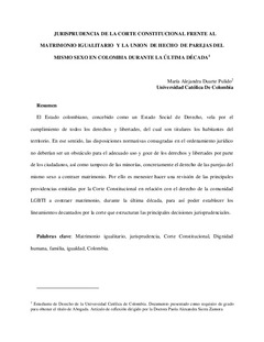 matrimonio gay en colombia jurisprudencia